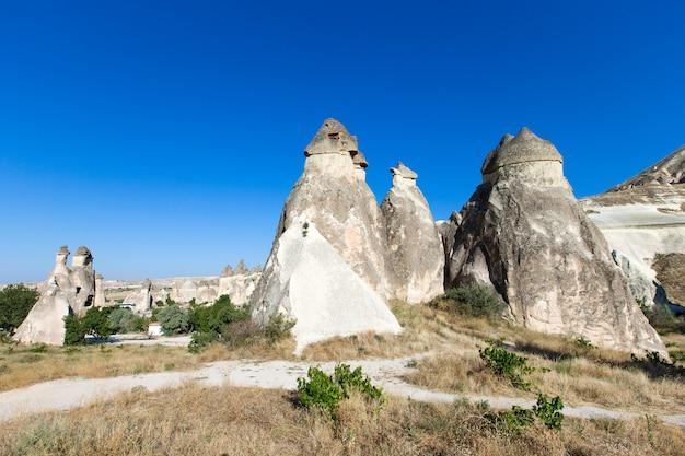 Berglandschap. cappadocië, anatolië, turkije.