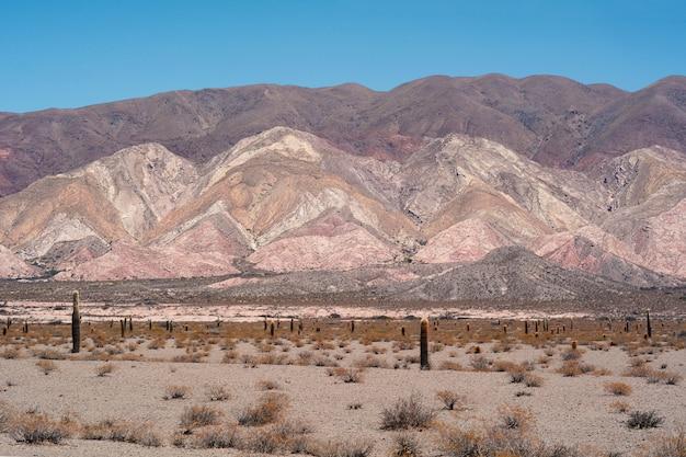 Berglandschap in salta, argentinië.