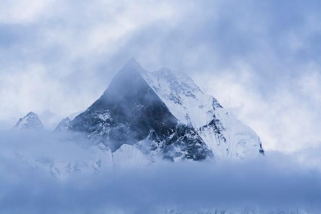 Bergtop in nepal