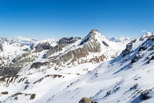 Bergtoppen in de alpen