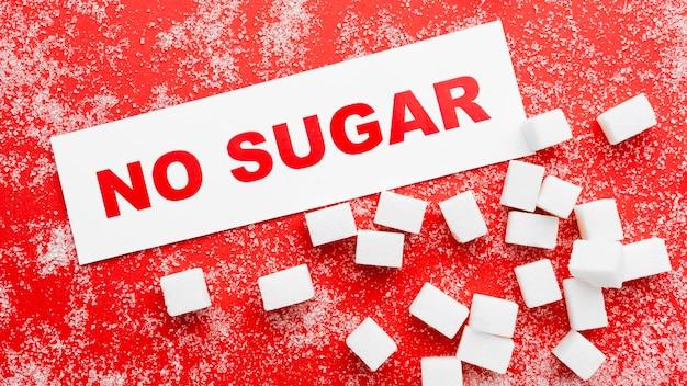 Bericht om te stoppen met het eten van suiker
