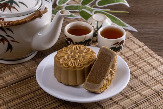 Beroemd chinees eten - mooncakes, dit zijn chinese gebakjes die traditioneel worden gegeten tijdens het mid-autumn festival