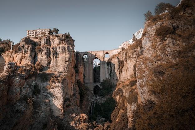 Beroemd landschap van ronda, spanje