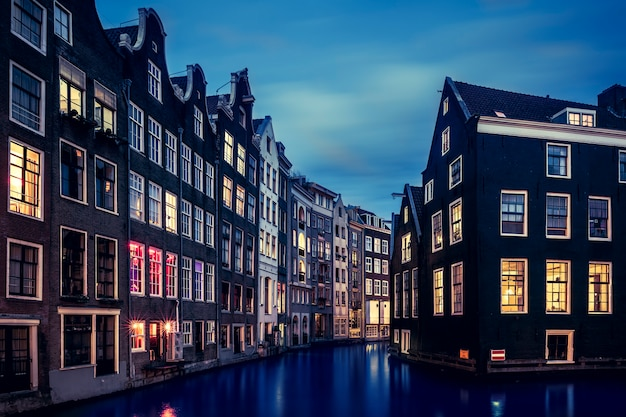Beroemd uitzicht in amsterdam, nederland