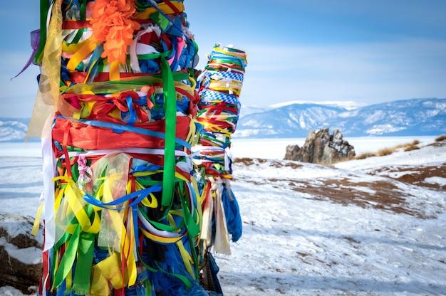 Beroemde en heilige chamainc roc op olkhon island
