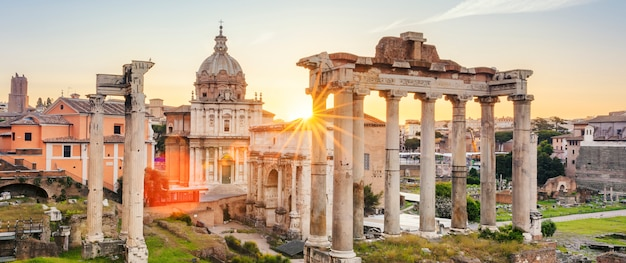 Beroemde forum romanum in rome
