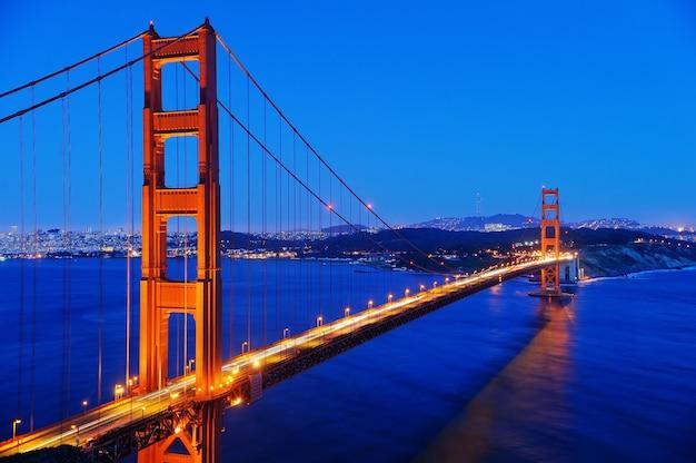 Beroemde golden gate-brug in san francisco, californië, de vs