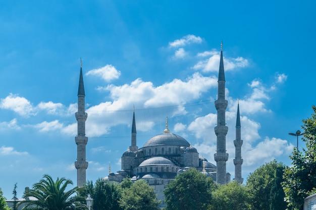 Beroemde moskee in turkse stad van istanboel