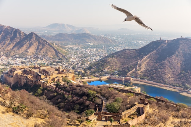 Beroemde plaatsen van jaipur, india, rajasthan.
