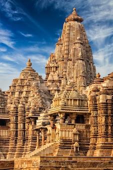 Beroemde tempels van khajuraho, india