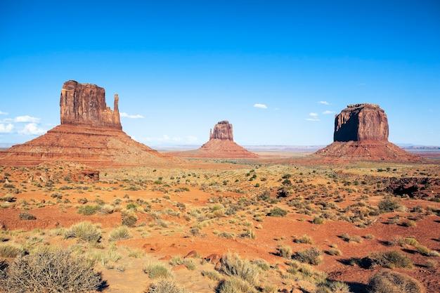Beroemde weergave van monument valley, verenigde staten