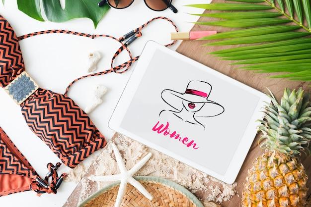 Beroep attractie schoonheid mode vogue grafisch concept