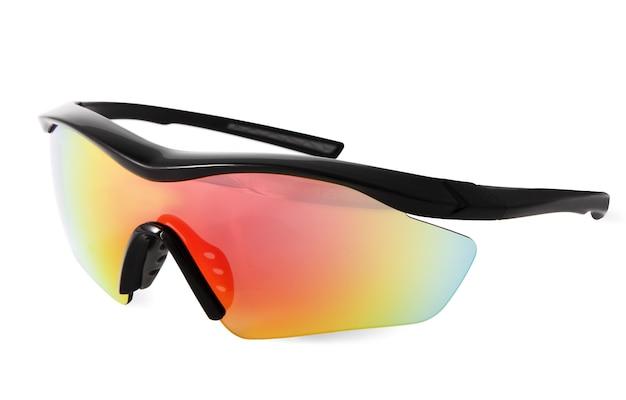 Bescherming fietsen zonnebril voor buitensporten, geïsoleerde afbeelding op een witte achtergrond