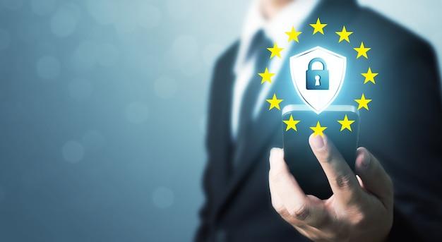 Bescherming netwerkbeveiliging mobiele smartphone en veilige gegevens