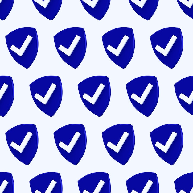 Bescherming schild naadloze patroon. beveiligingscontrole pictogram.