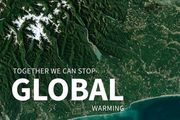 Bescherming tegen opwarming van de aarde voor milieubanner