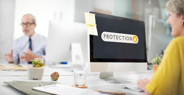 Bescherming toegankelijk toestemming verificatie beveiligingsconcept
