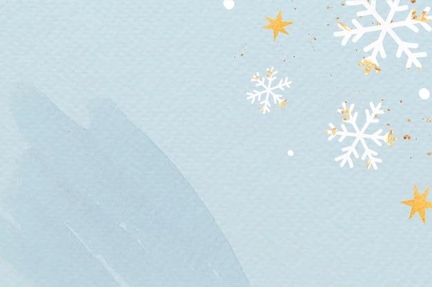 Besneeuwde kerstgroet papier getextureerde achtergrond met ontwerpruimte