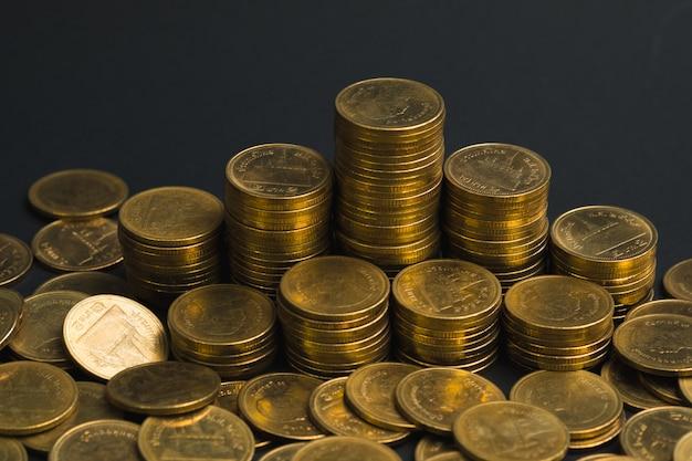 Besparingen, toenemende kolommen met munten