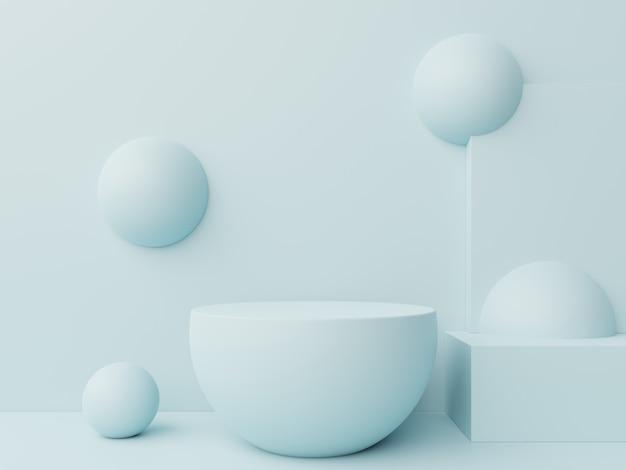 Bespot abstract podium voor het plaatsen van producten.
