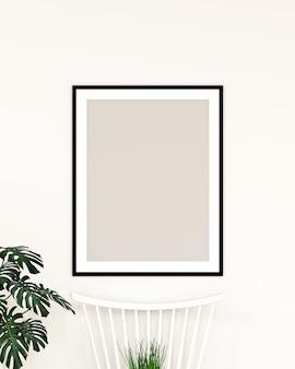 Bespotten van frame dat aan de muur hangt
