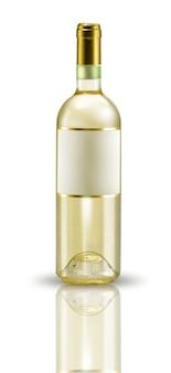 Bespotten wijnfles etiket