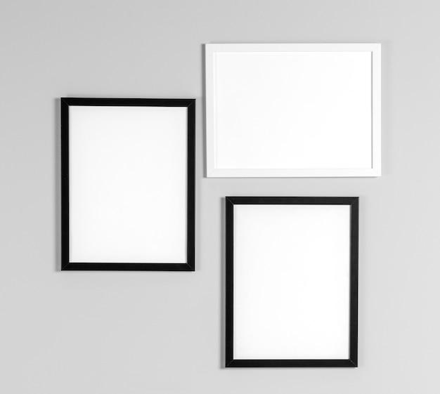 Bespreek frames op de muur