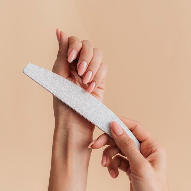 Bestand voor gezonde mooie manicure