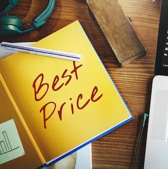 Beste prijs aanbieding promotie commerce marketing concept
