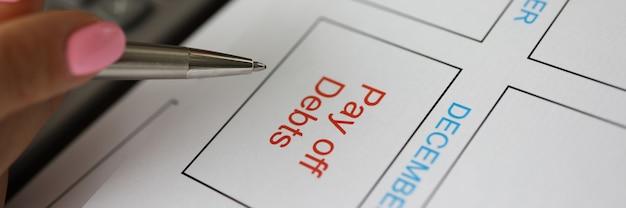 Betaal schulden bedrijfsplanning