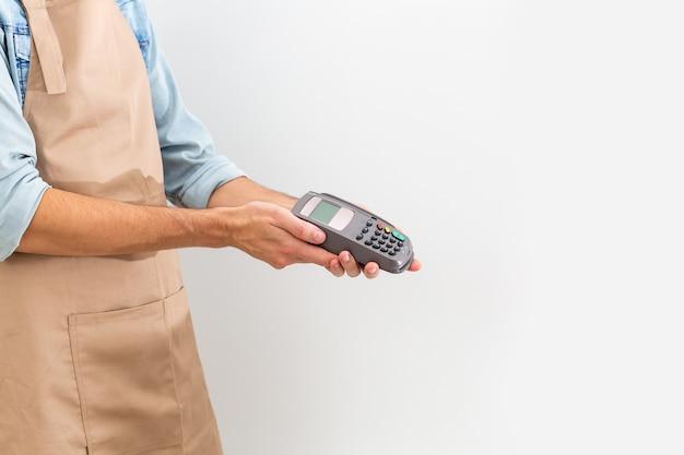 Betalen met creditcardterminal
