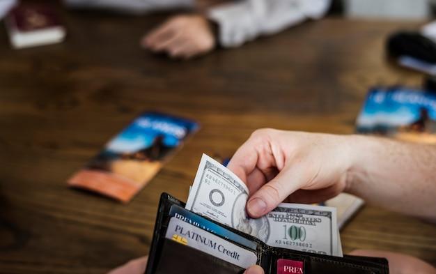Betaling voor een reis