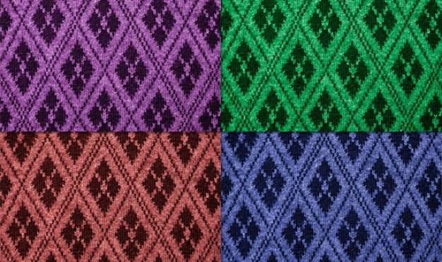 Betegelbare stof textuur met 13 kleuren