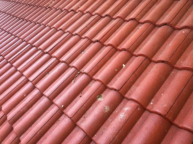 Betegeld dak als achtergrondtextuur