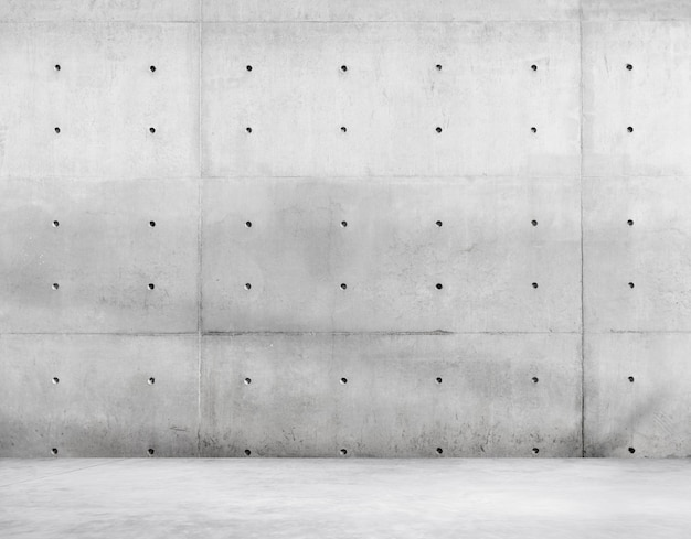 Betonnen muur en cement vloer voor kopie ruimte