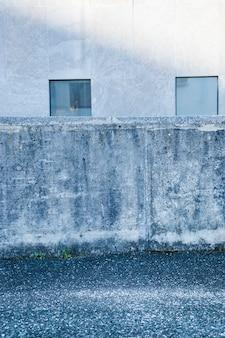 Betonnen muur van de stad