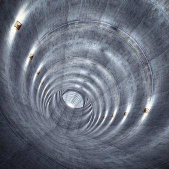Betonnen tunnel