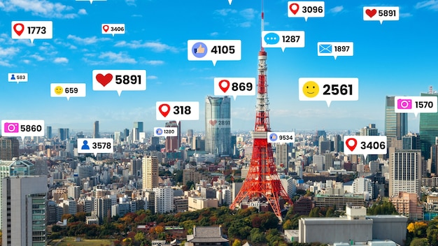 Betrokkenheid via sociale media vliegt over de stad