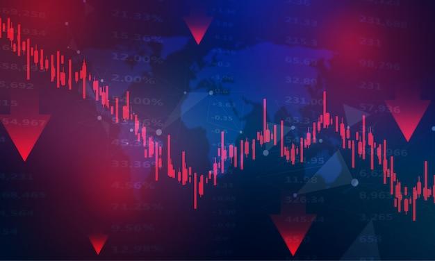 Beurs, economische grafiek met diagrammen