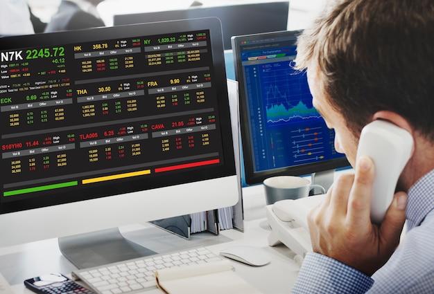 Beurshandel forex financiën grafisch concept