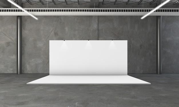 Beursstand 3d-rendering