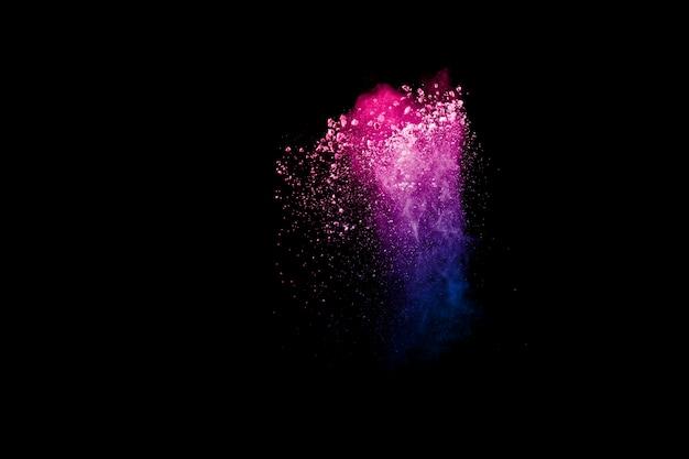 Bevries de beweging van kleurrijke stofdeeltjes