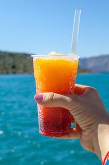 Bevroren fruitdrank