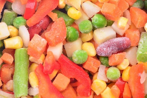 Bevroren groenten textuur