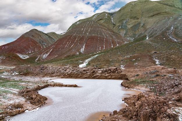 Bevroren meer in de hooglanden