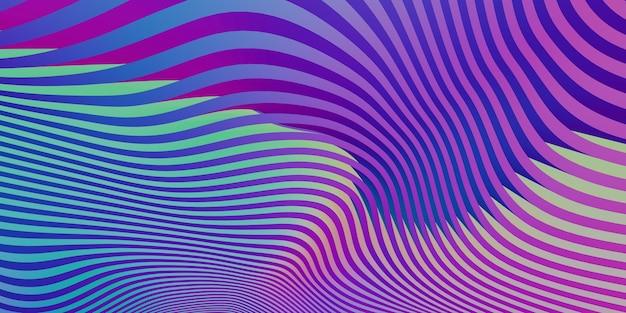 Bewegende lichtgolf curve abstracte grafische achtergrond 3d illustratie