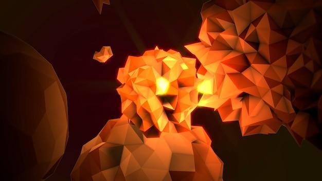 Beweging abstracte gele vloeibare orb in kosmos, zwarte achtergrond. elegante en luxe 3d-illustratiestijl voor moderne en kosmos-sjabloon
