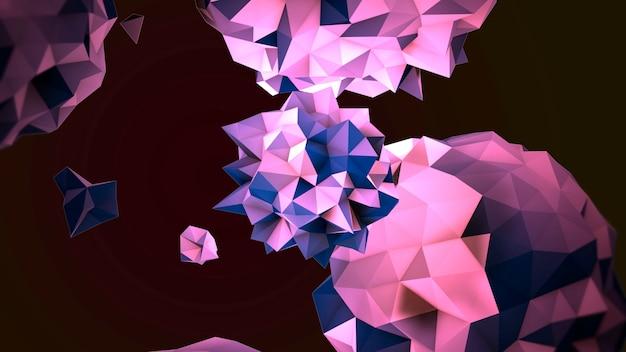 Beweging abstracte paarse vloeibare orb in kosmos, zwarte achtergrond. elegante en luxe 3d-illustratiestijl voor moderne en kosmos-sjabloon