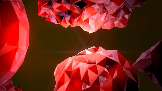 Beweging abstracte rode vloeibare orb in kosmos, zwarte achtergrond. elegante en luxe 3d-illustratiestijl voor moderne en kosmos-sjabloon