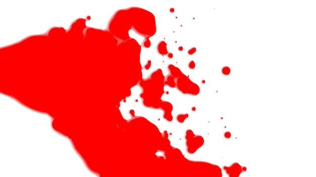 Beweging abstracte rode vloeibare vlekken, witte plons achtergrond. elegante en luxe 3d-illustratiestijl voor moderne en hipster-sjabloon